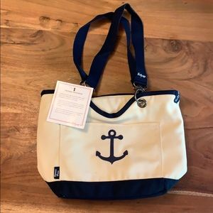 Thirty-One Anchor Canvas Crew Mini Thermal Tote